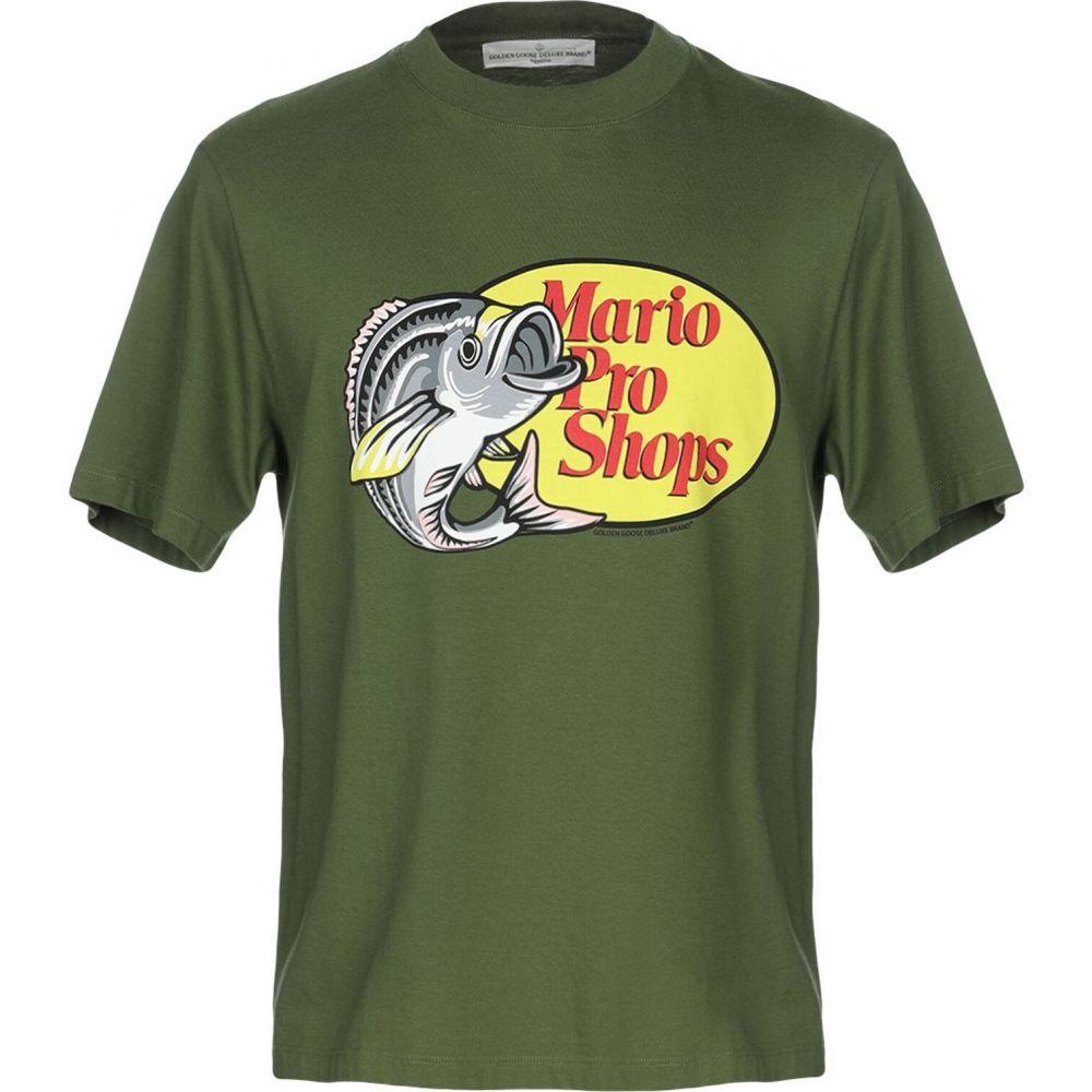 ゴールデン グース GOLDEN GOOSE DELUXE BRAND メンズ Tシャツ トップス【t-shirt】Military green