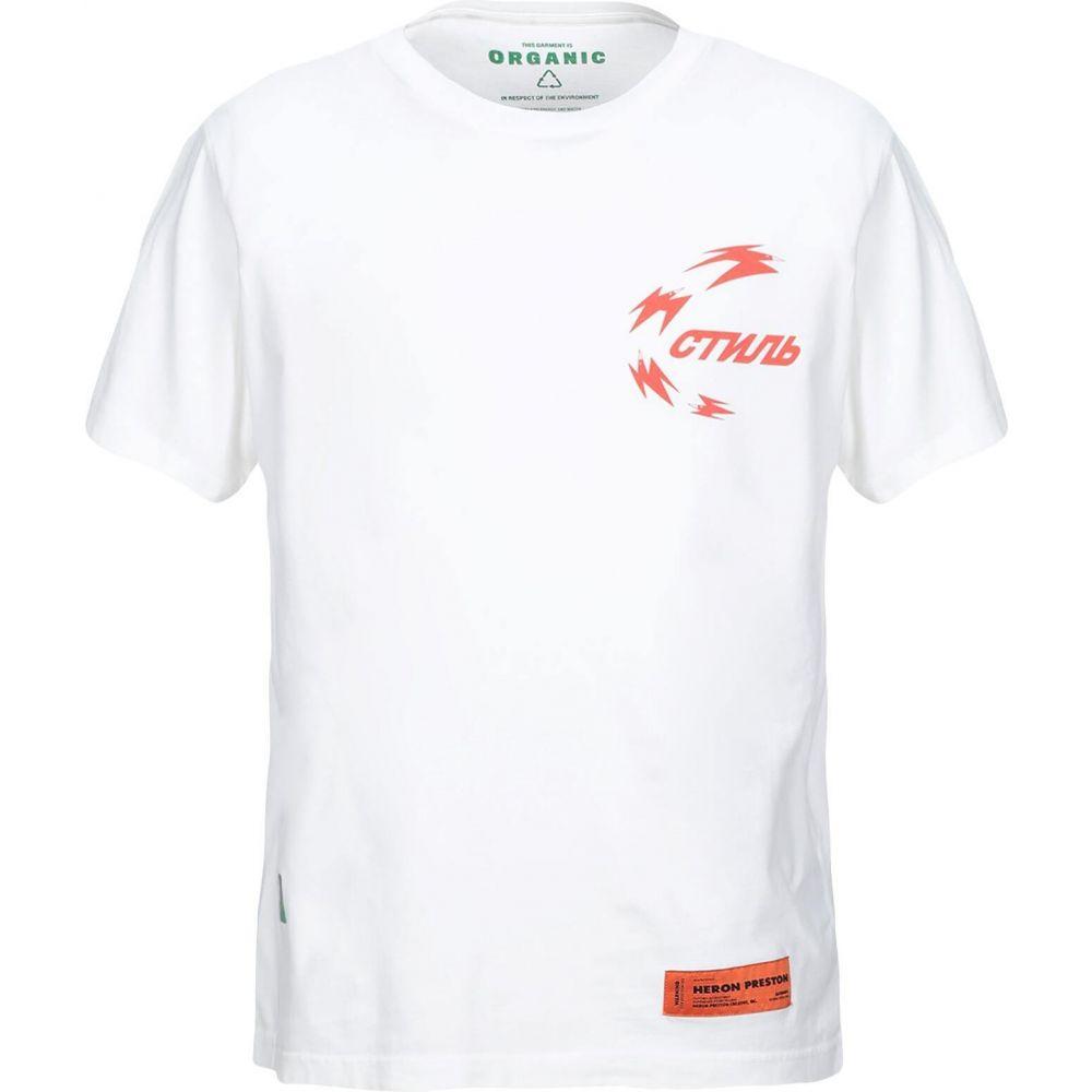 ヘロン プレストン HERON PRESTON メンズ Tシャツ トップス【t-shirt】White