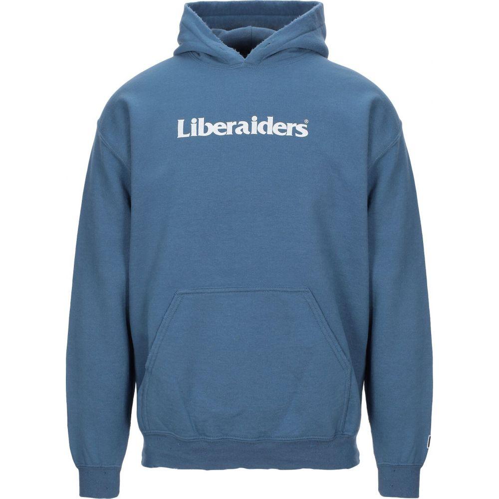 リベレイダース スピード対応 全国送料無料 メンズ ふるさと割 トップス パーカー Slate LIBERAIDERS sweatshirt サイズ交換無料 blue hooded