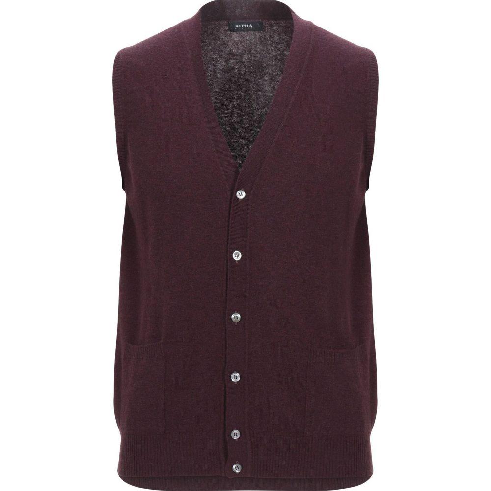アルファス テューディオ ALPHA STUDIO メンズ ベスト・ジレ トップス【sleeveless sweater】Deep purple