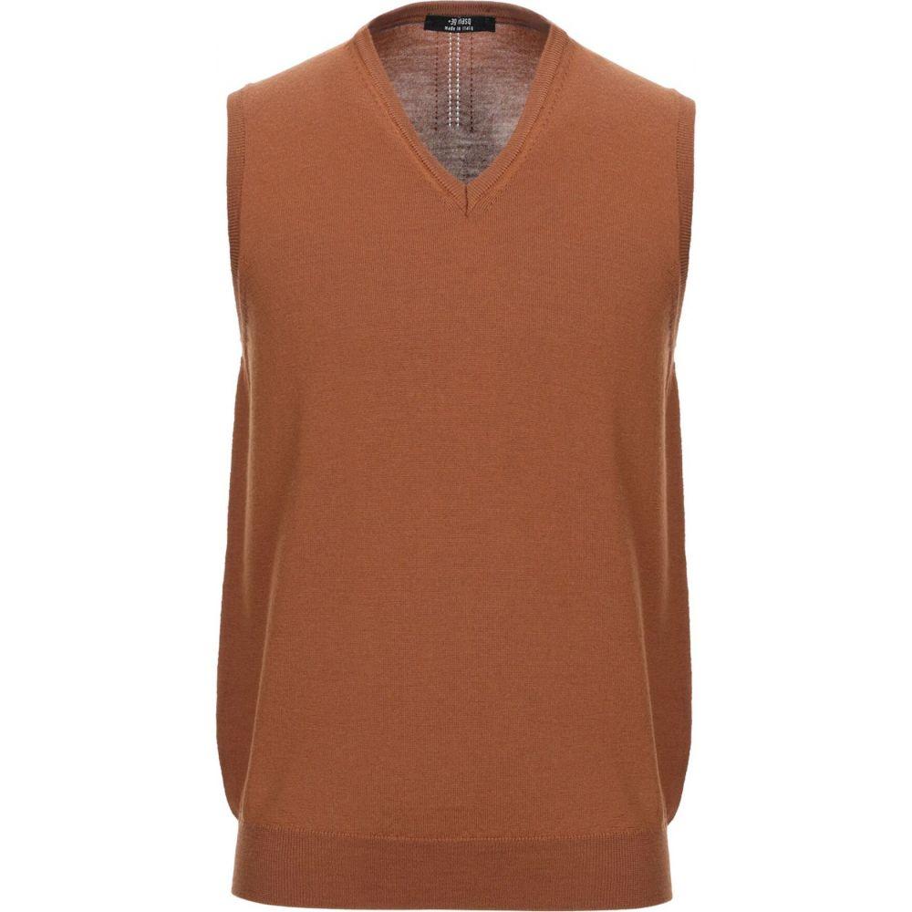 マスク +39 MASQ メンズ ベスト・ジレ トップス【sleeveless sweater】Camel