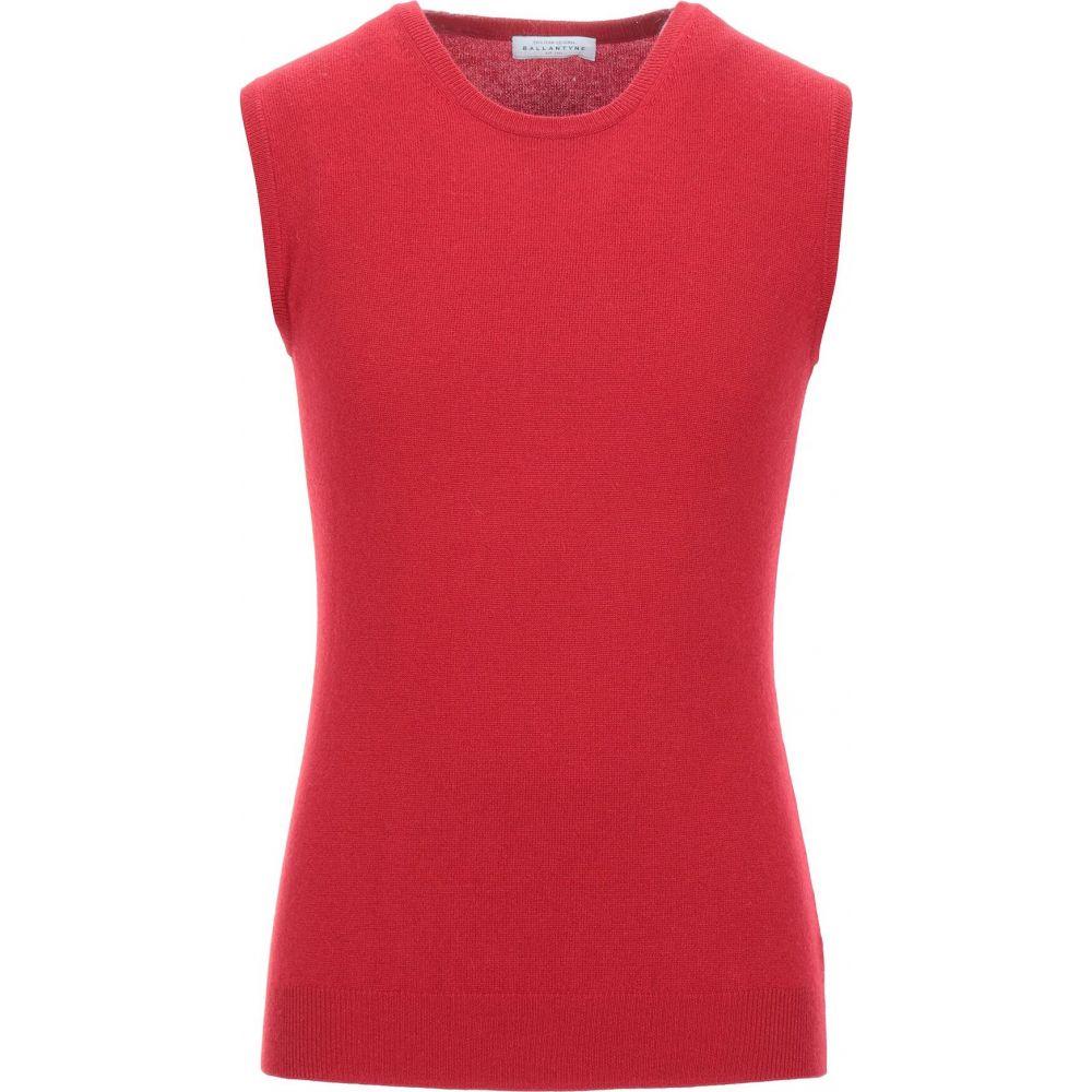 バランタイン BALLANTYNE メンズ ベスト・ジレ トップス【sleeveless sweater】Red