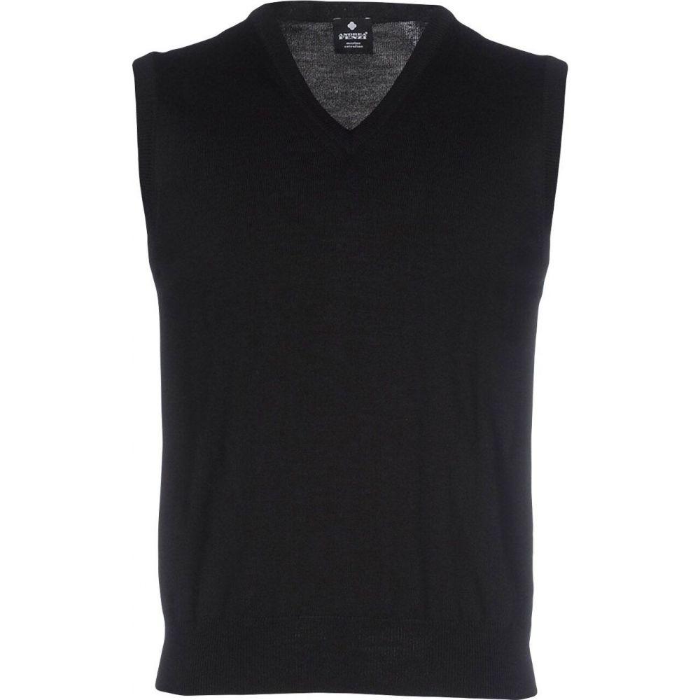 アンドレア フェンツィ ANDREA FENZI メンズ ベスト・ジレ トップス【sleeveless sweater】Black