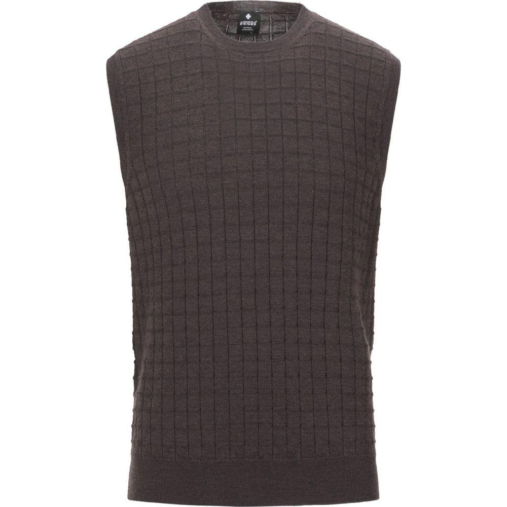 アンドレア フェンツィ ANDREA FENZI メンズ ベスト・ジレ トップス【sleeveless sweater】Dark brown