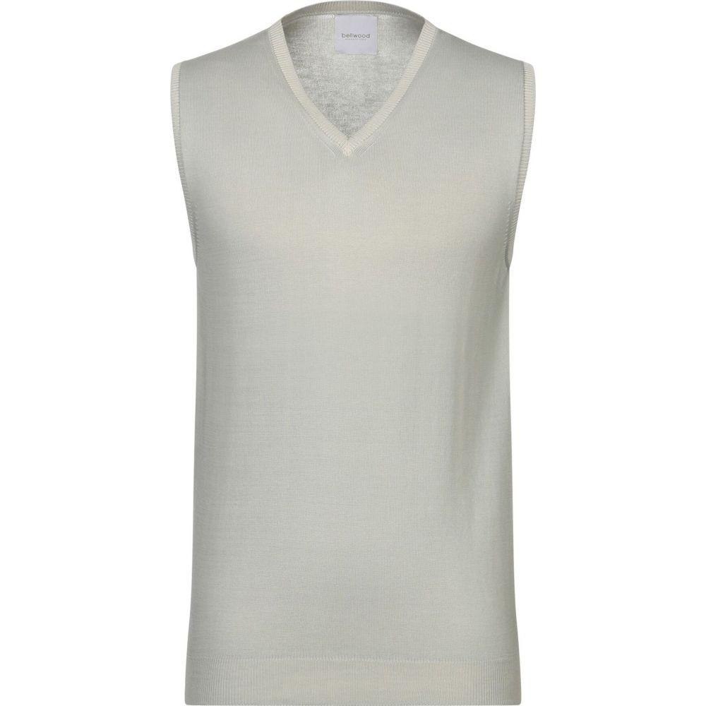 ベルウッド BELLWOOD メンズ ベスト・ジレ トップス【sleeveless sweater】Light grey