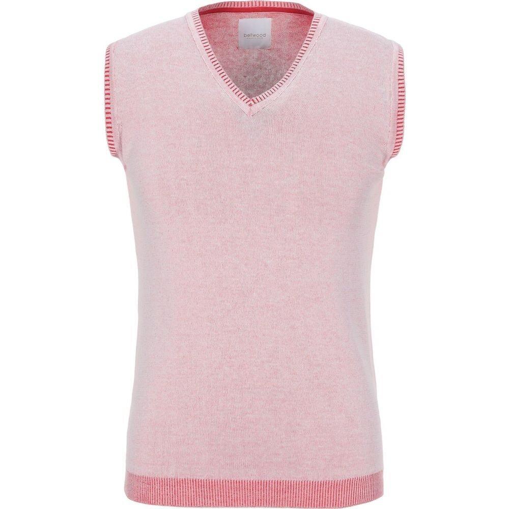 ベルウッド BELLWOOD メンズ ベスト・ジレ トップス【sleeveless sweater】Pink