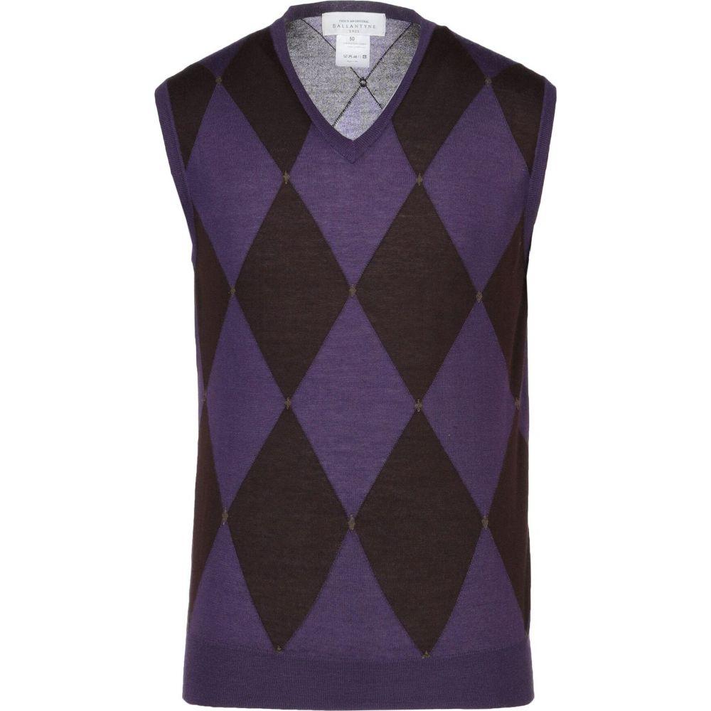 バランタイン BALLANTYNE メンズ ベスト・ジレ トップス【sleeveless sweater】Purple