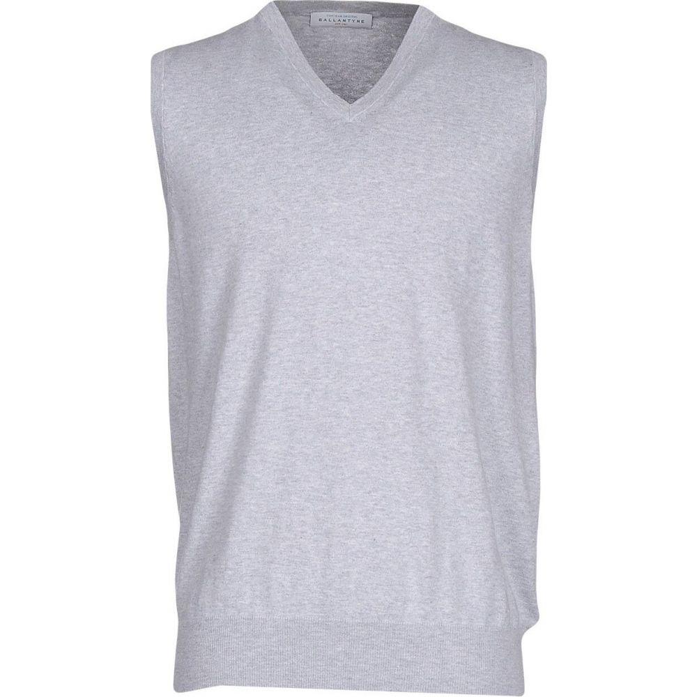 バランタイン BALLANTYNE メンズ ベスト・ジレ トップス【sleeveless sweater】Light grey