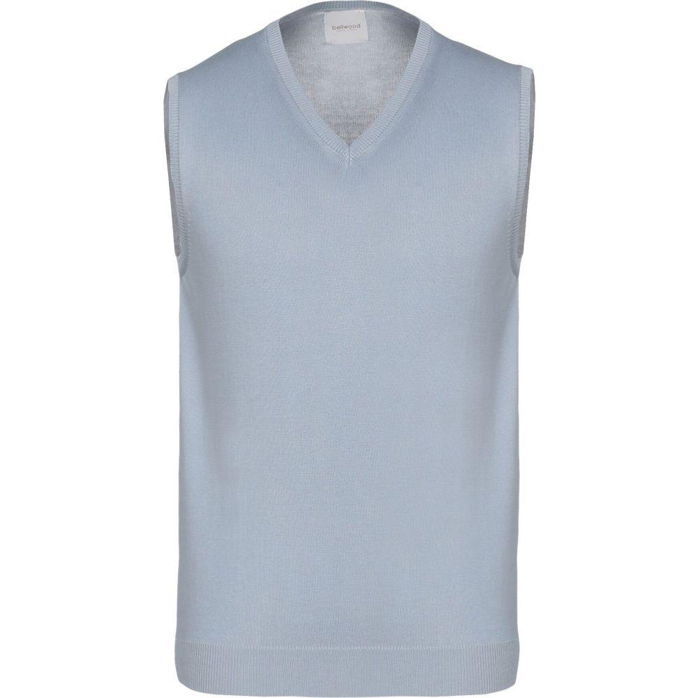 ベルウッド BELLWOOD メンズ ベスト・ジレ トップス【sleeveless sweater】Sky blue