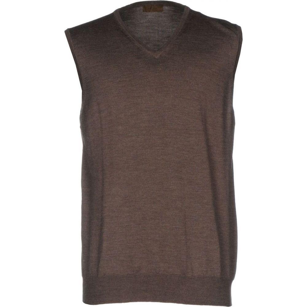 アルファス テューディオ ALPHA STUDIO メンズ ベスト・ジレ トップス【sleeveless sweater】Khaki