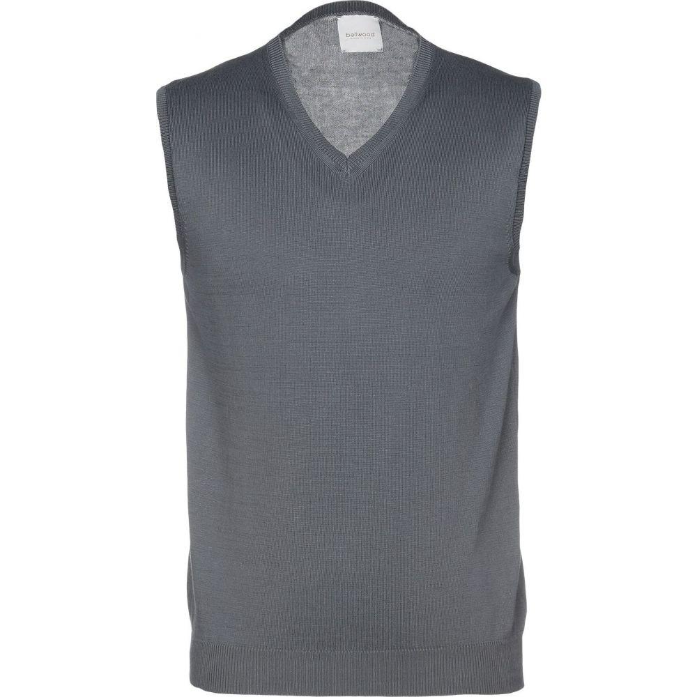 ベルウッド BELLWOOD メンズ ベスト・ジレ トップス【sleeveless sweater】Lead