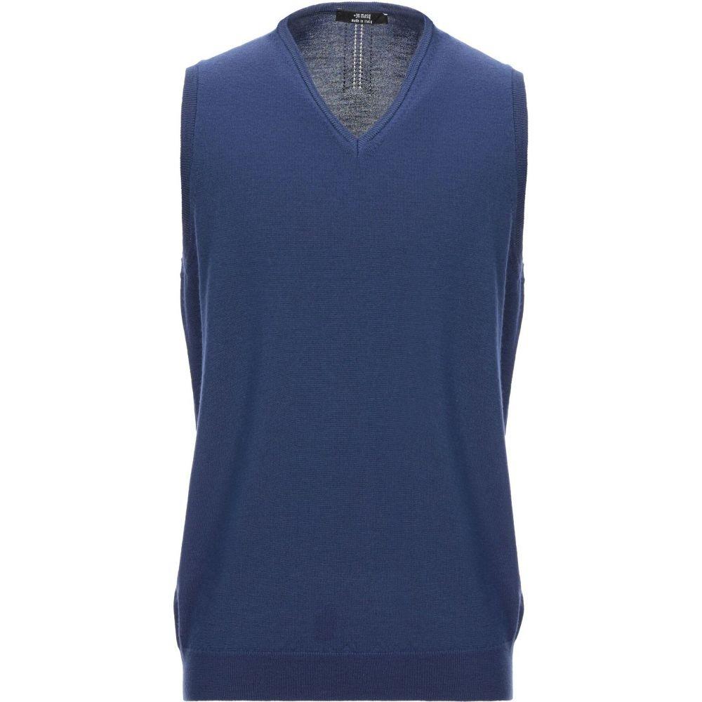 マスク +39 MASQ メンズ ベスト・ジレ トップス【sleeveless sweater】Blue