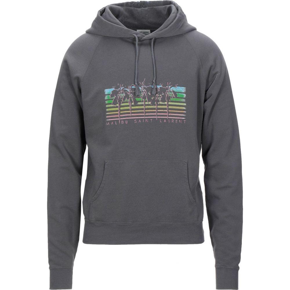 イヴ サンローラン SAINT LAURENT メンズ パーカー トップス【hooded sweatshirt】Grey