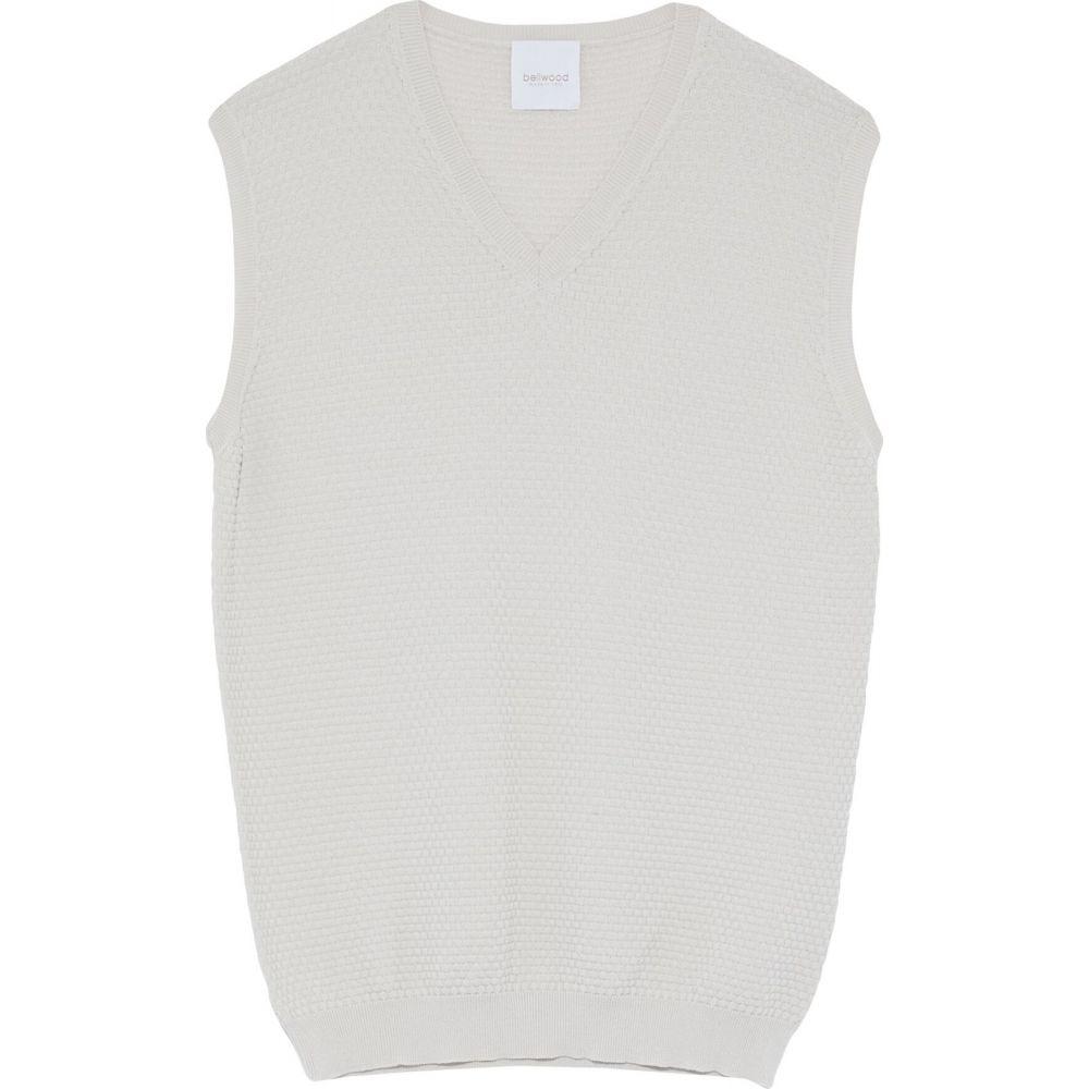 ベルウッド BELLWOOD メンズ ベスト・ジレ トップス【sleeveless sweater】Beige