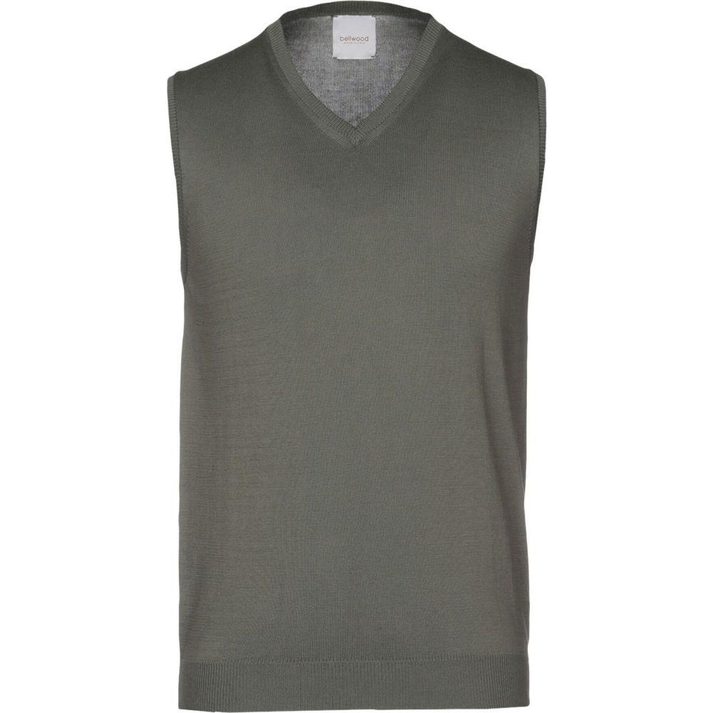 ベルウッド BELLWOOD メンズ ベスト・ジレ トップス【sleeveless sweater】Military green