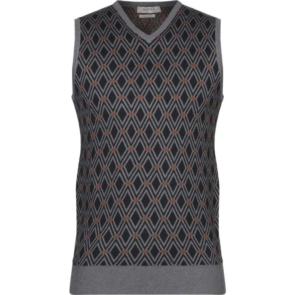 アルファス テューディオ ALPHA STUDIO メンズ ベスト・ジレ トップス【sleeveless sweater】Dark blue
