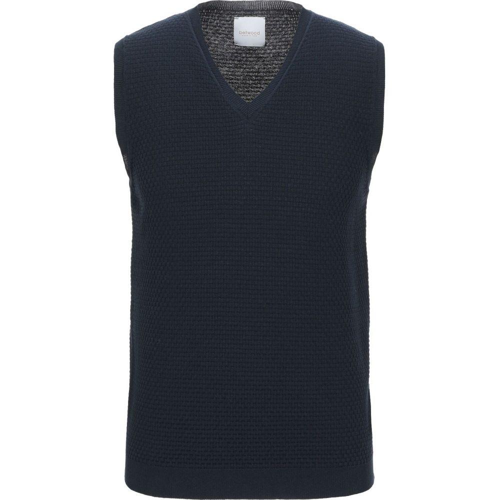 ベルウッド BELLWOOD メンズ ベスト・ジレ トップス【sleeveless sweater】Dark blue