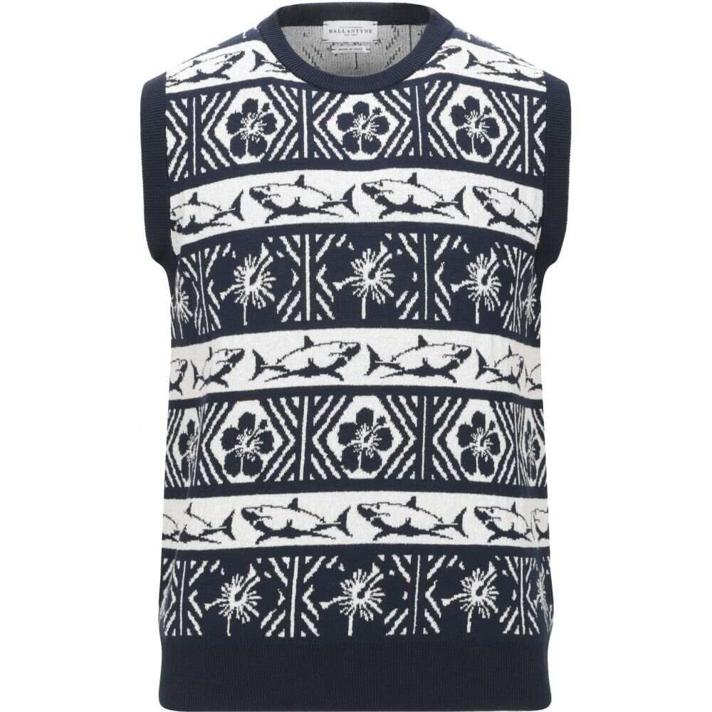 バランタイン BALLANTYNE メンズ ベスト・ジレ トップス【sleeveless sweater】Dark blue