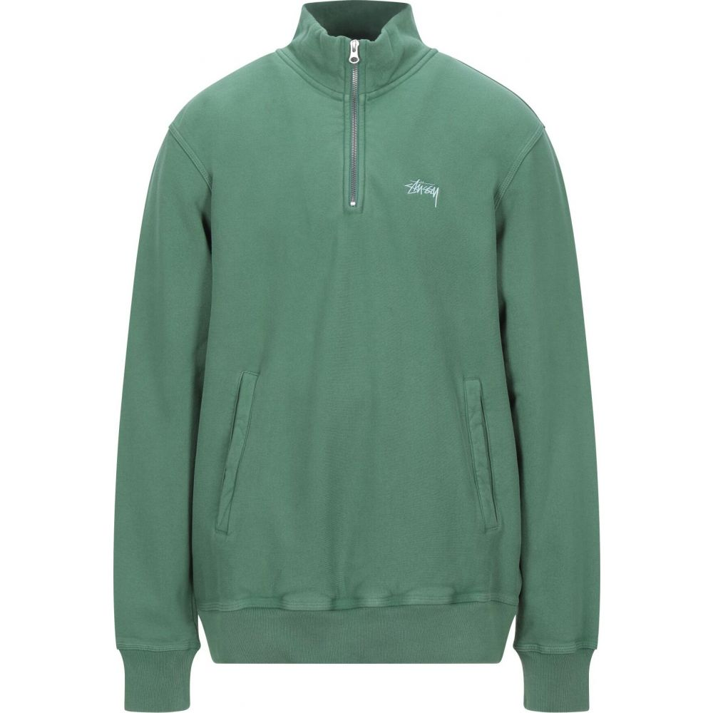 ステューシー STUSSY メンズ フリース トップス【stock fleece mock】Green
