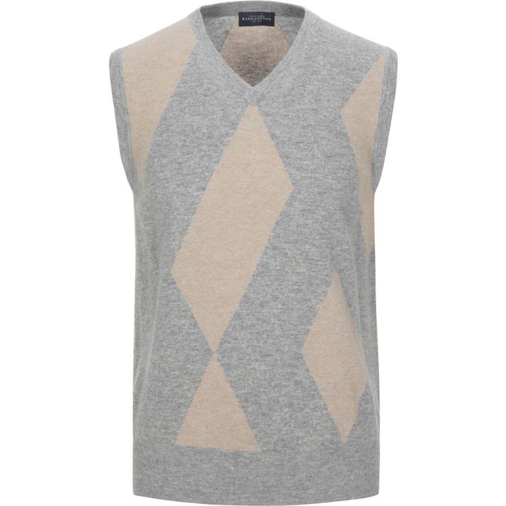 バランタイン BALLANTYNE メンズ ベスト・ジレ トップス【sleeveless sweater】Grey