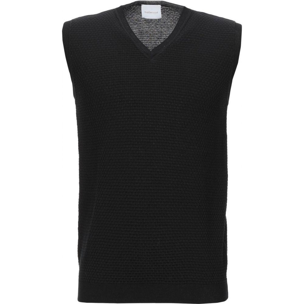 ベルウッド BELLWOOD メンズ ベスト・ジレ トップス【sleeveless sweater】Black