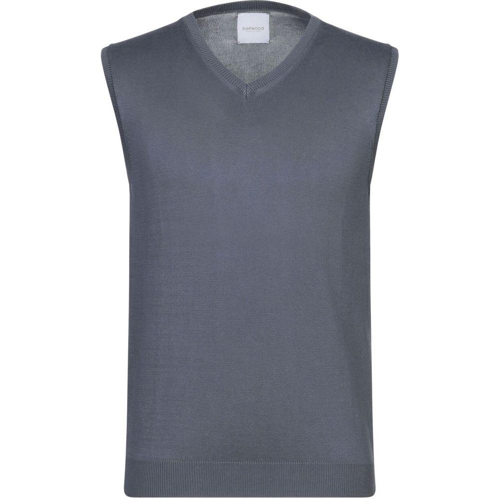 ベルウッド BELLWOOD メンズ ベスト・ジレ トップス【sleeveless sweater】Slate blue