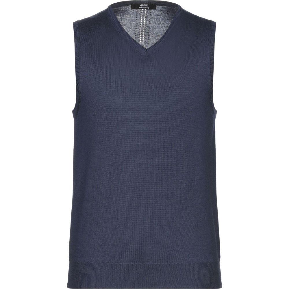 マスク +39 MASQ メンズ ベスト・ジレ トップス【sleeveless sweater】Dark blue