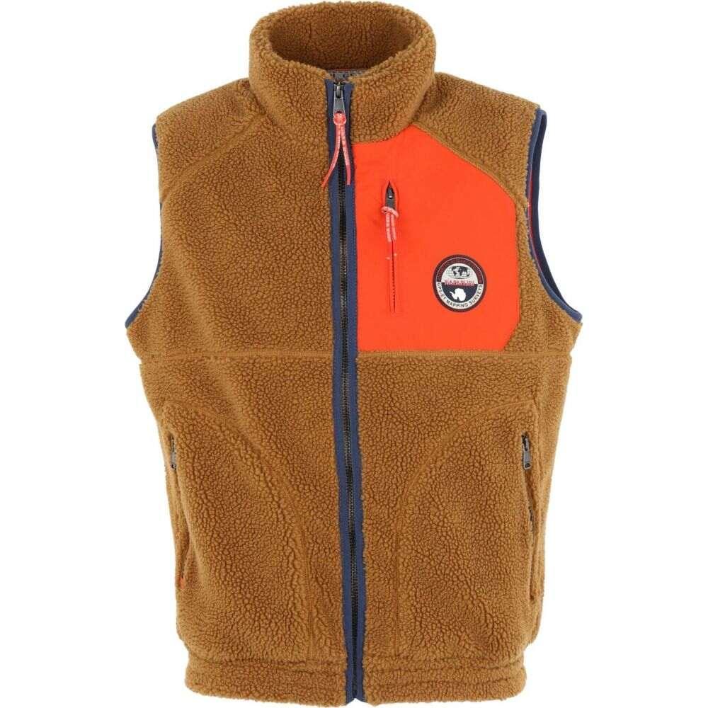 ナパピリ NAPAPIJRI メンズ ベスト・ジレ トップス【toe vest】Brown