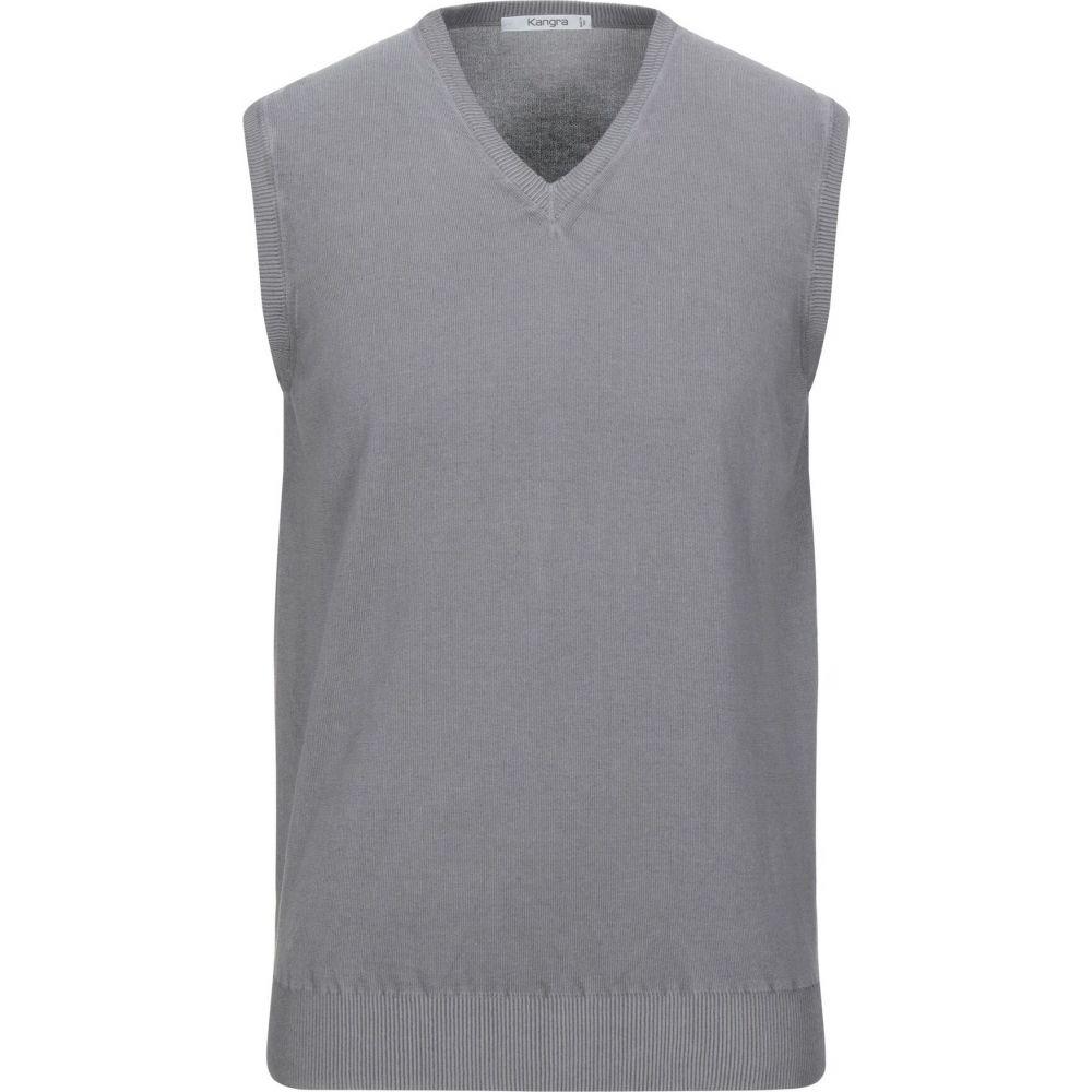 カングラ カシミア KANGRA CASHMERE メンズ ベスト・ジレ トップス【sleeveless sweater】Dove grey