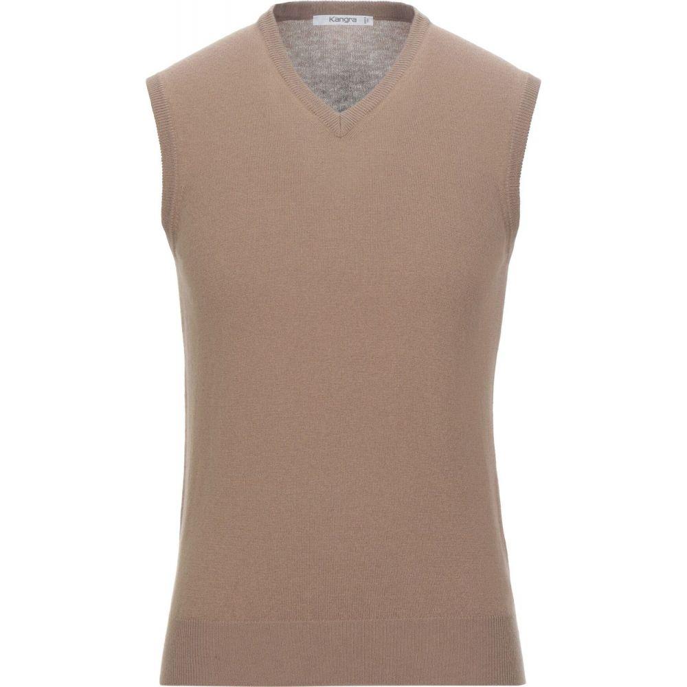 カングラ カシミア KANGRA CASHMERE メンズ ベスト・ジレ トップス【sleeveless sweater】Camel