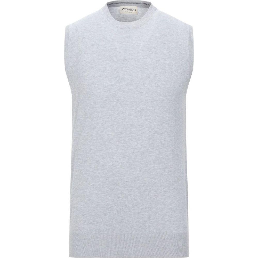 ロイロジャース ROY ROGER'S メンズ ベスト・ジレ トップス【sleeveless sweater】Light grey