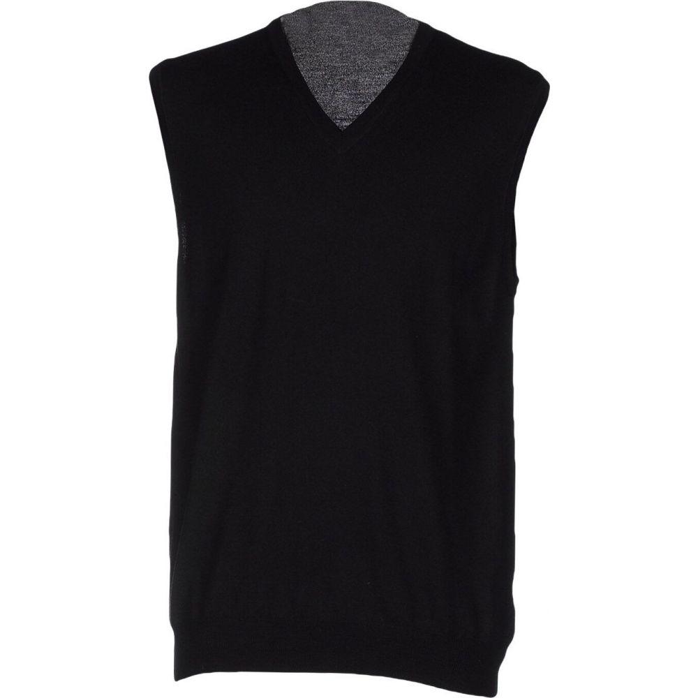 ザノーネ ZANONE メンズ ベスト・ジレ トップス【sleeveless sweater】Black