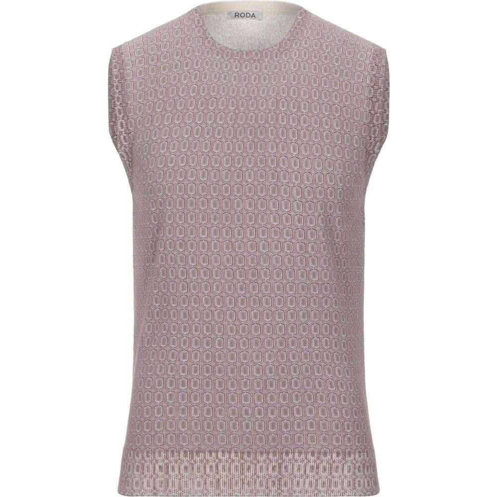 ロダ RODA メンズ ベスト・ジレ トップス【sleeveless sweater】Sand