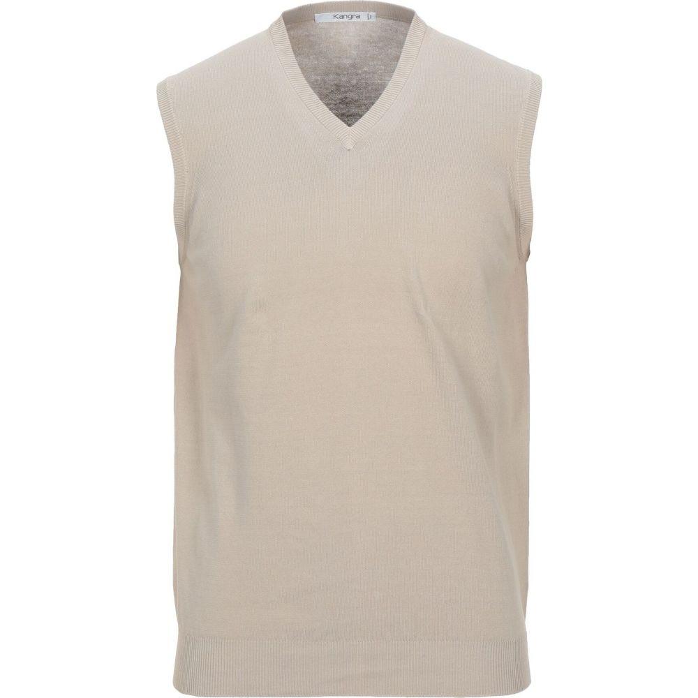 カングラ カシミア KANGRA CASHMERE メンズ ベスト・ジレ トップス【sleeveless sweater】Beige