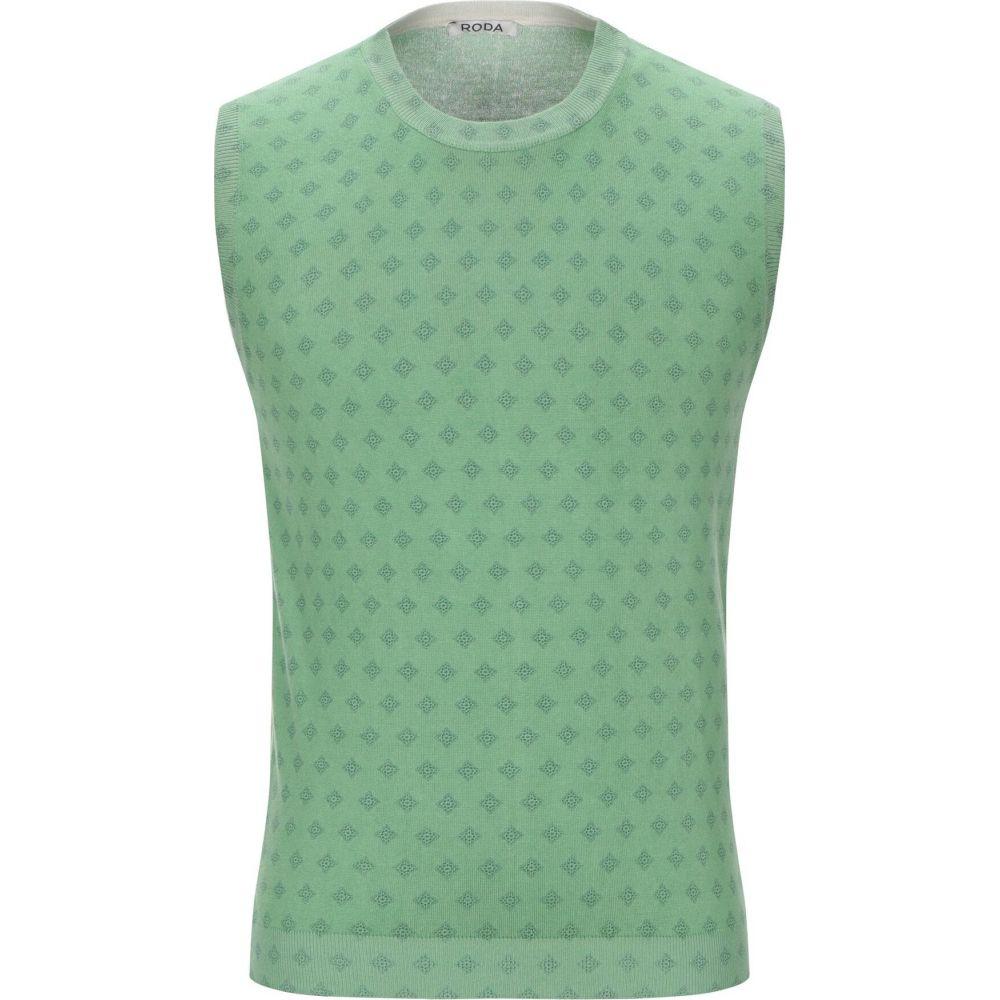 ロダ RODA メンズ ベスト・ジレ トップス【sleeveless sweater】Green