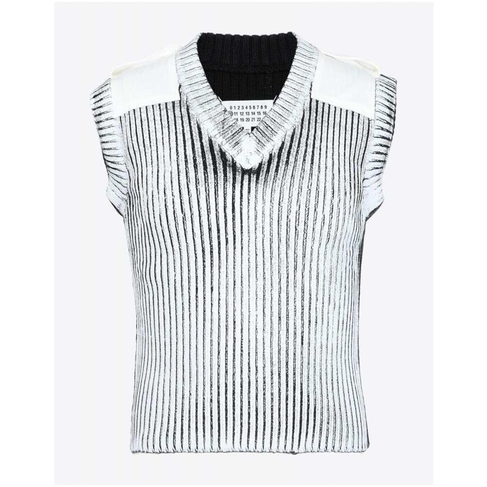 メゾン マルジェラ MAISON MARGIELA メンズ ベスト・ジレ トップス【sleeveless sweater】Ivory