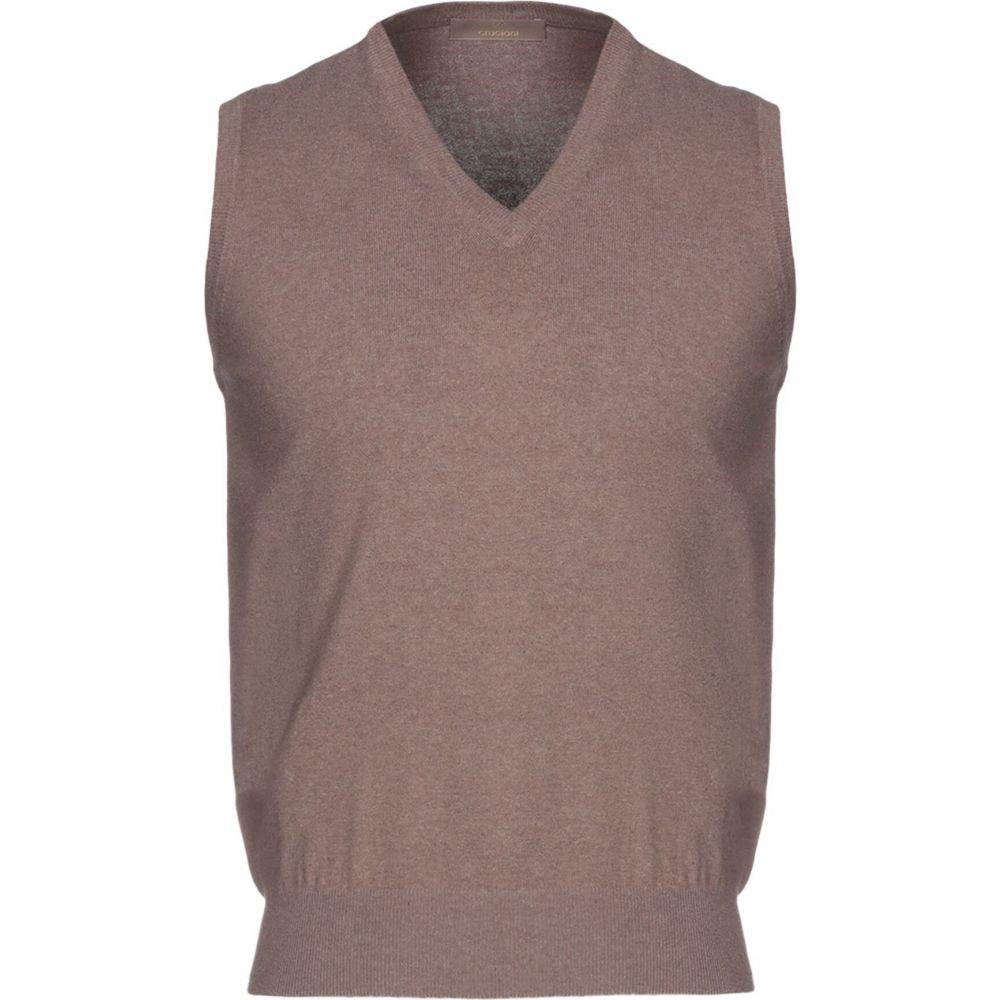 クルチアーニ CRUCIANI メンズ ベスト・ジレ トップス【sleeveless sweater】Beige