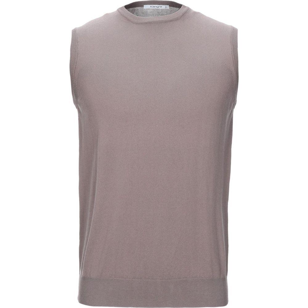 カングラ カシミア KANGRA CASHMERE メンズ ベスト・ジレ トップス【sleeveless sweater】Khaki