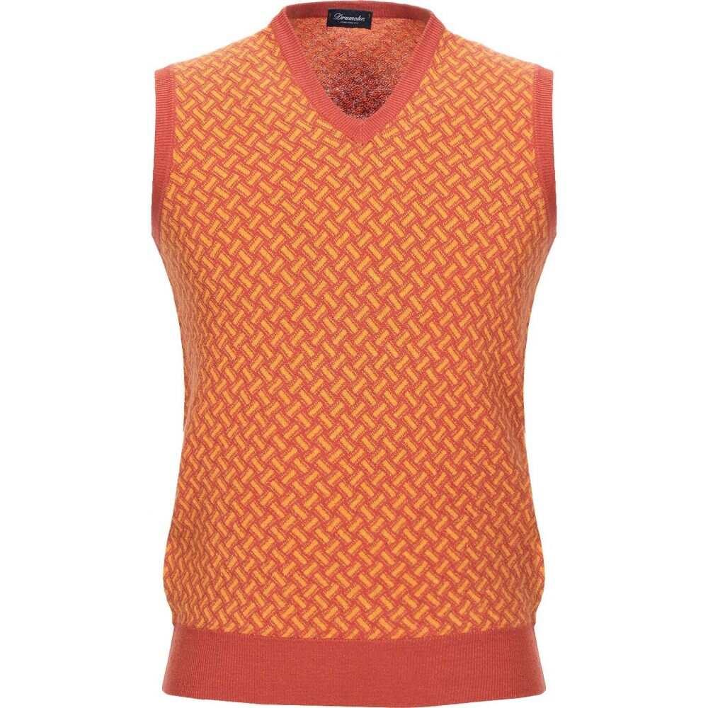 ドルモア DRUMOHR メンズ ベスト・ジレ トップス【sleeveless sweater】Rust