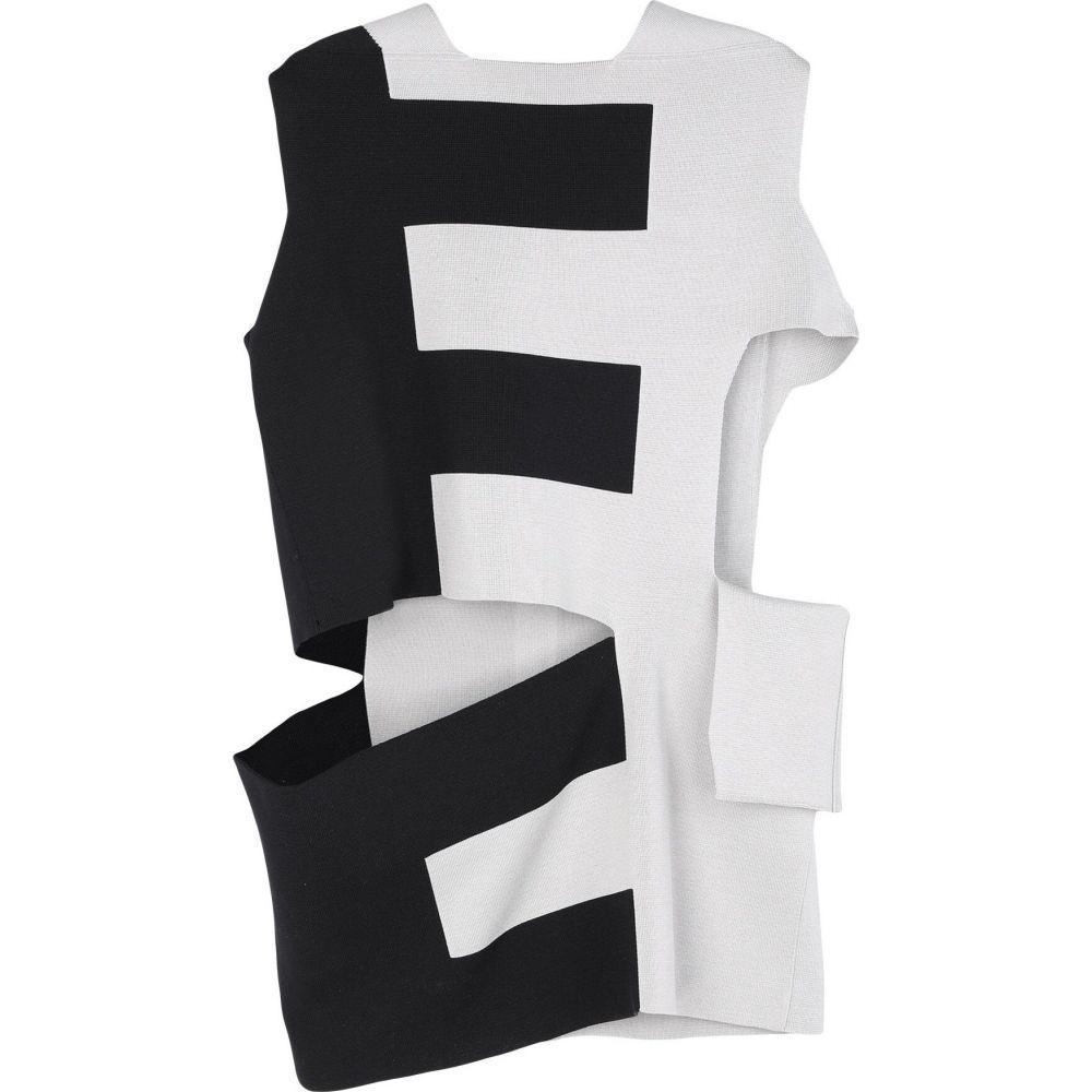 リック オウエンス RICK OWENS メンズ ベスト・ジレ トップス【sleeveless sweater】Light grey