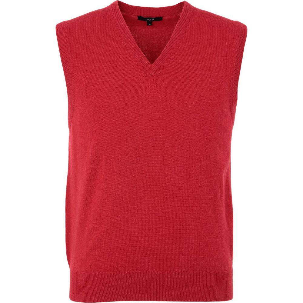 ダンディ DANDI メンズ ベスト・ジレ トップス【sleeveless sweater】Red
