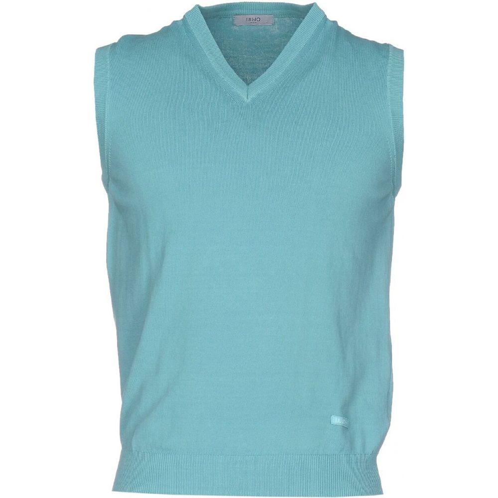 リウジョー LIU JO MAN メンズ ベスト・ジレ トップス【sleeveless sweater】Light green