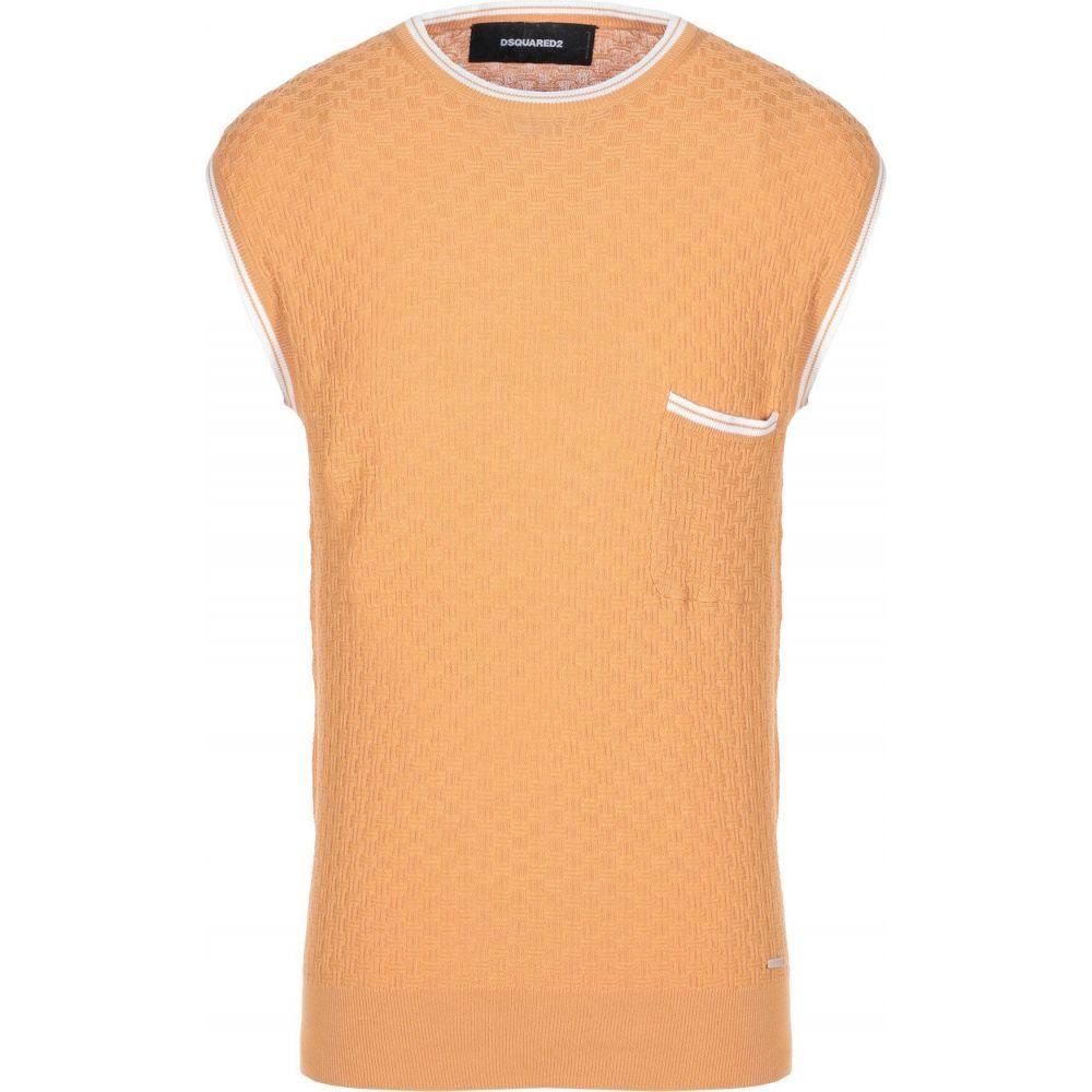 ディースクエアード DSQUARED2 メンズ ベスト・ジレ トップス【sleeveless sweater】Orange