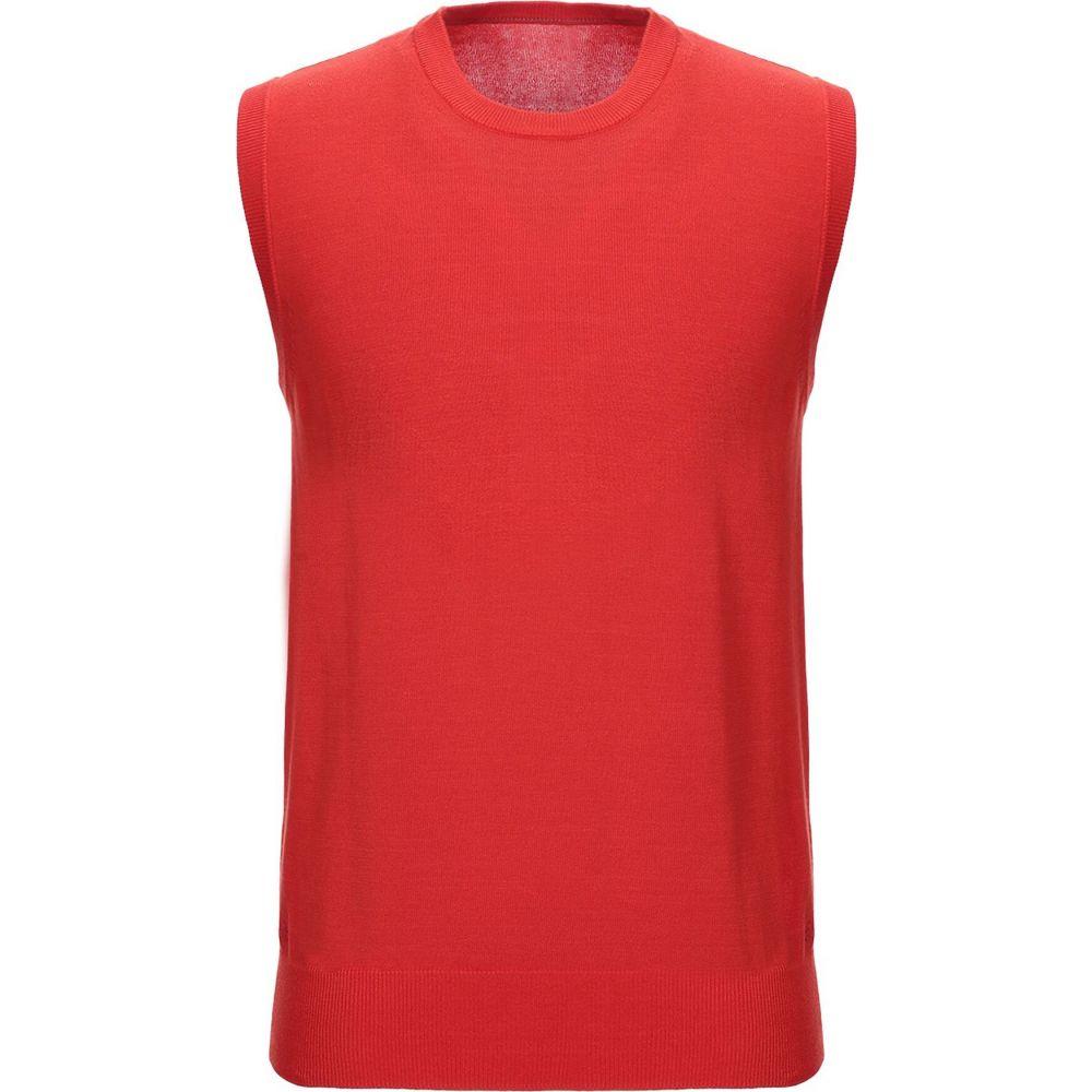 ピューテリー PEUTEREY メンズ ベスト・ジレ トップス【sleeveless sweater】Red