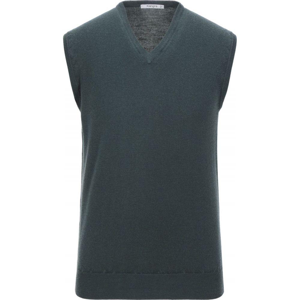 カングラ カシミア KANGRA CASHMERE メンズ ベスト・ジレ トップス【sleeveless sweater】Dark green