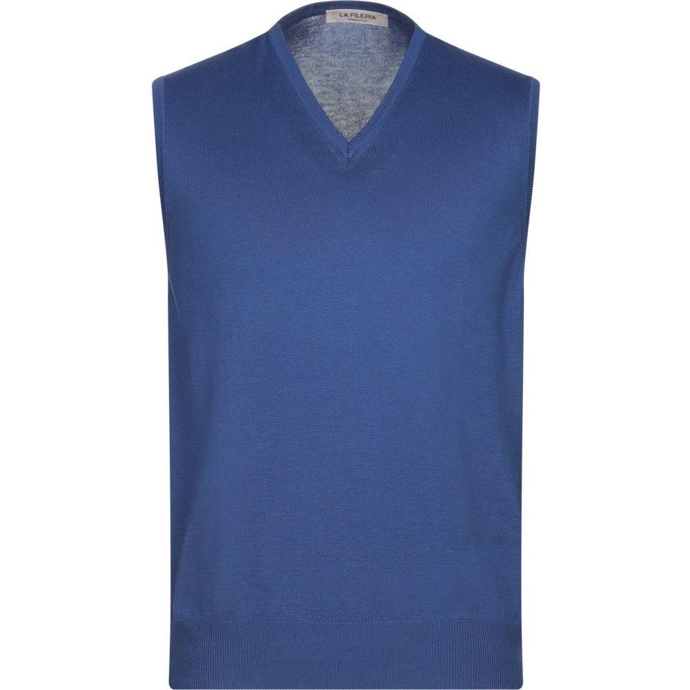 ラ フィレリア LA FILERIA メンズ ベスト・ジレ トップス【sleeveless sweater】Bright blue