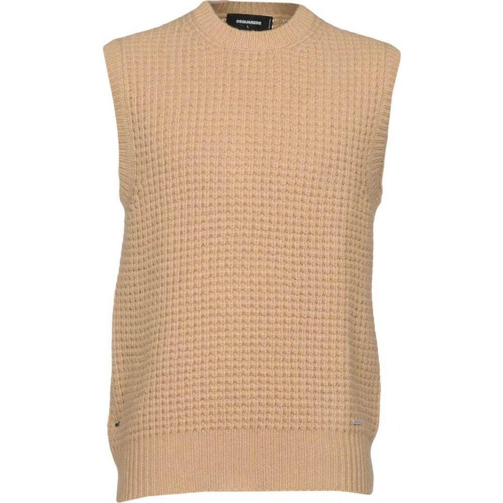 ディースクエアード DSQUARED2 メンズ ベスト・ジレ トップス【sleeveless sweater】Camel