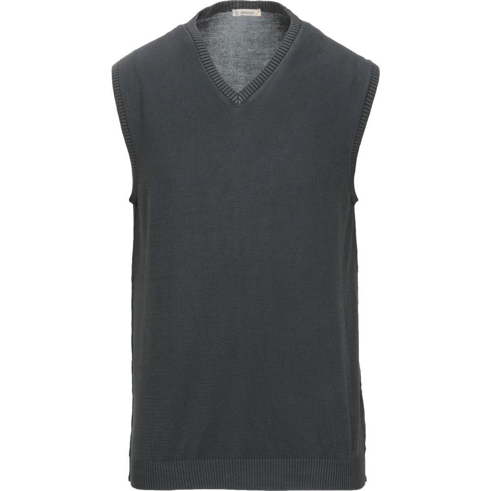 ベルウッド BELLWOOD メンズ ベスト・ジレ トップス【sleeveless sweater】Steel grey