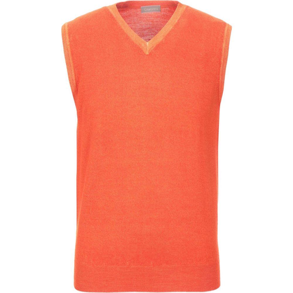 クルチアーニ CRUCIANI メンズ ベスト・ジレ トップス【sleeveless sweater】Orange