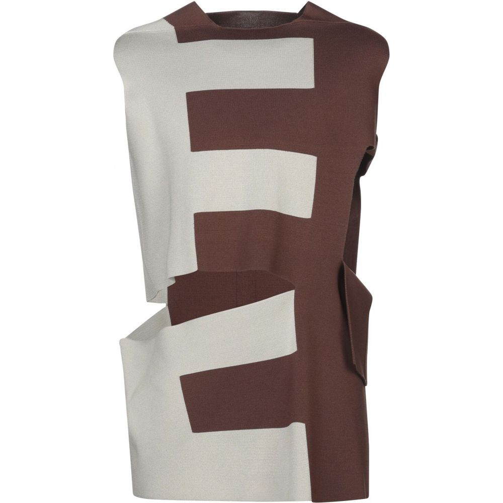 リック オウエンス RICK OWENS メンズ ベスト・ジレ トップス【sleeveless sweater】Brown